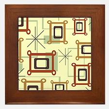 1950s Abstract Pop Art Framed Tile