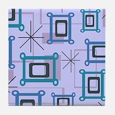 1950s Abstract Pop Art Tile Coaster