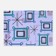 1950s Abstract Pop Art 5'x7'Area Rug