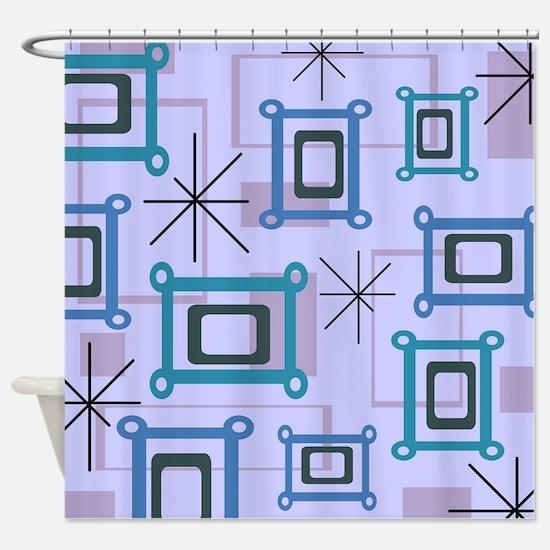 1950s Abstract Pop Art Shower Curtain