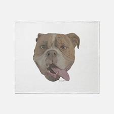 Cute Old english bulldog Throw Blanket