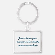 Jesus Loves You Keychains