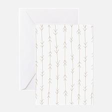 Brown, Beige: Arrows Pattern Greeting Card