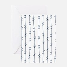 Blue, Navy: Arrow Pattern Greeting Card