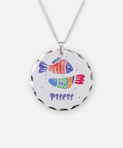 Pisces Astrology Fish Waterc Necklace