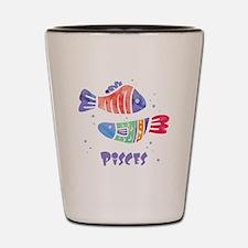 Pisces Astrology Fish Watercolor art Shot Glass