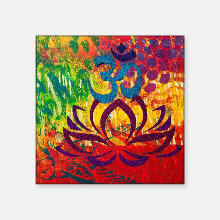 "Cute Om painting Square Sticker 3"" x 3"""