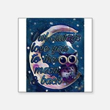 Owl always love u moon & back Sticker