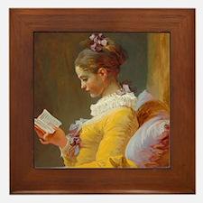 Young Girl Reading by Jean-Honoré Fragonard Framed
