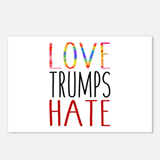 Love Trumps Hate Postcards (package Of 8)
