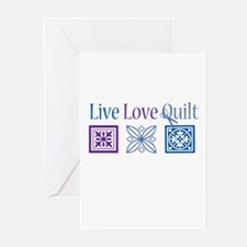 Live Love Quilt Greeting Cards