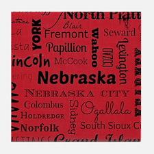 Nebraska Cities Tile Coaster