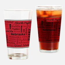 Nebraska Cities Drinking Glass