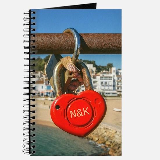 Personalized - Love Lock Coastal Heart* Journal