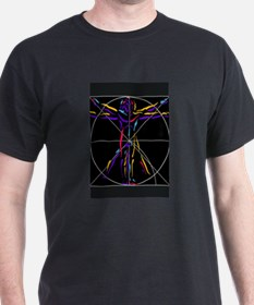 Vitruvian man da vinci drawing T-Shirt