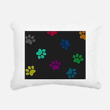 Cute Dachshund shopping Rectangular Canvas Pillow