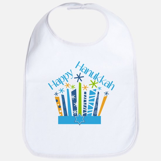 Happy Hanukkah Candles Baby Bib