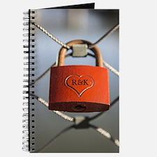 PERSONALIZED - Heart Lock * Journal