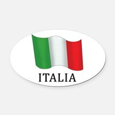 Italia Flag Oval Car Magnet