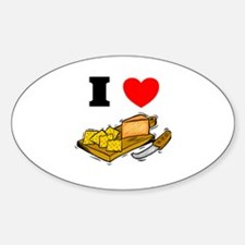 Cheese and Crackers Oval Decal