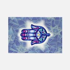 Blue & Lavender Hamsa Hand Symbol Magnets