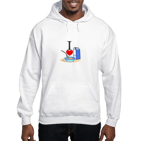 I Love Cereal Hooded Sweatshirt