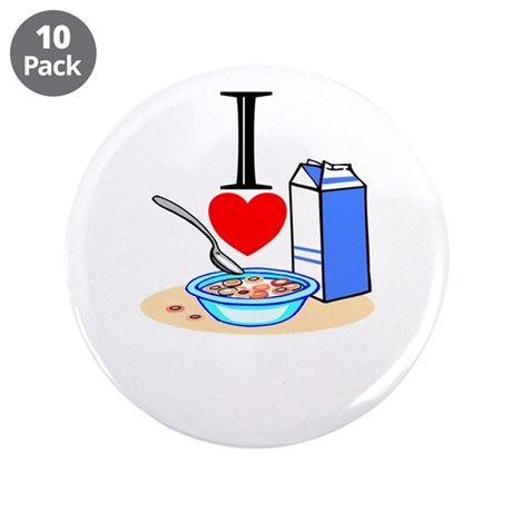 "I Love Cereal 3.5"" Button (10 pack)"