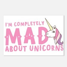I'm completely MAD about unicorns Postcards (Packa