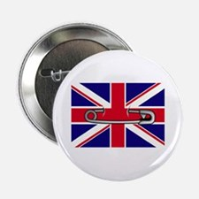 """Union Jack safety pin 2.25"""" Button"""