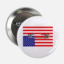 "Flag safety pin 2.25"" Button"