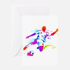 Neon Football 1 Greeting Cards