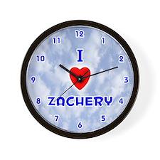 I Love Zachery (Blue) Valentine Wall Clock