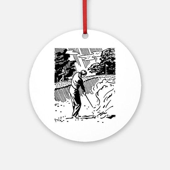 golf bunker Round Ornament