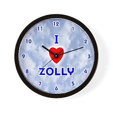 I Love Zolly (Blue) Valentine Wall Clock