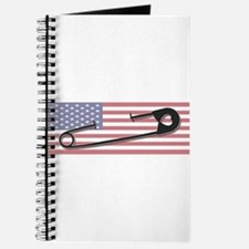 Safety Pin Flag Journal