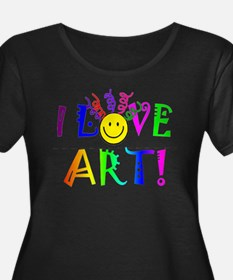 I Love ArtDrk Plus Size T-Shirt