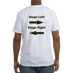 Stage Left and Right Fitted T-Shirt