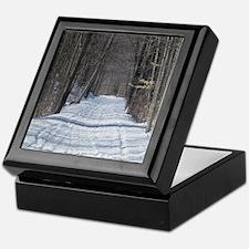 snowy trail Keepsake Box