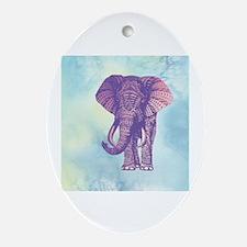 Cute Elephant Oval Ornament