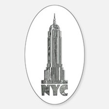Empire State Building Chrome Decal