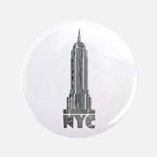 Empire State Building Chrome Button