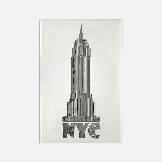 Empire State Building Chrome Magnets