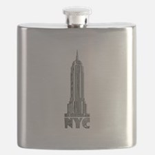 Empire State Building Chrome Flask