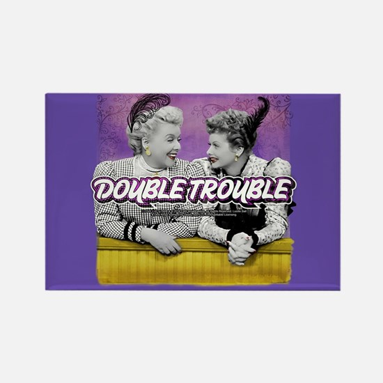 I Love Lucy: Double Trouble Rectangle Magnet