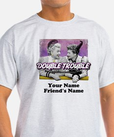 Double Trouble Personalized T-Shirt