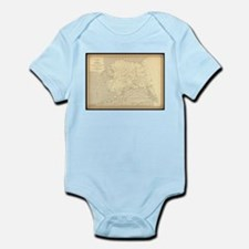 Alaska vintage map Body Suit