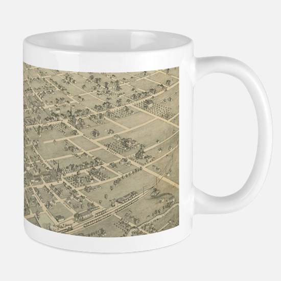 Vintage Pictorial Map of Gainesville Texas (1 Mugs