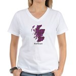 Map - Harkness Women's V-Neck T-Shirt