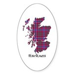 Map - Harkness Sticker (Oval 50 pk)