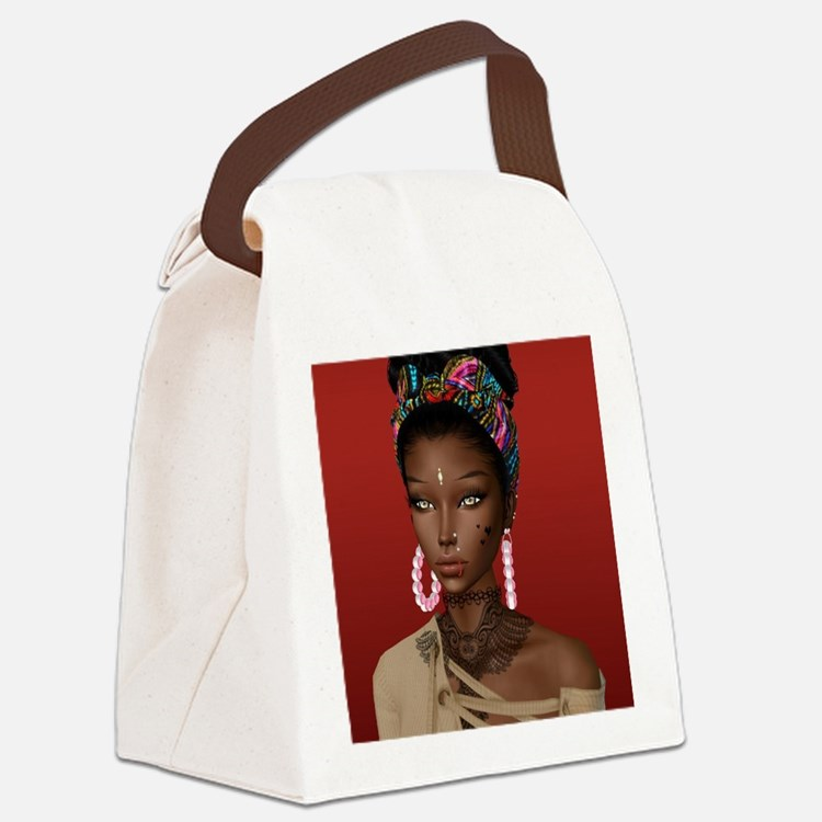 Melanin Poppin' Canvas Lunch Bag